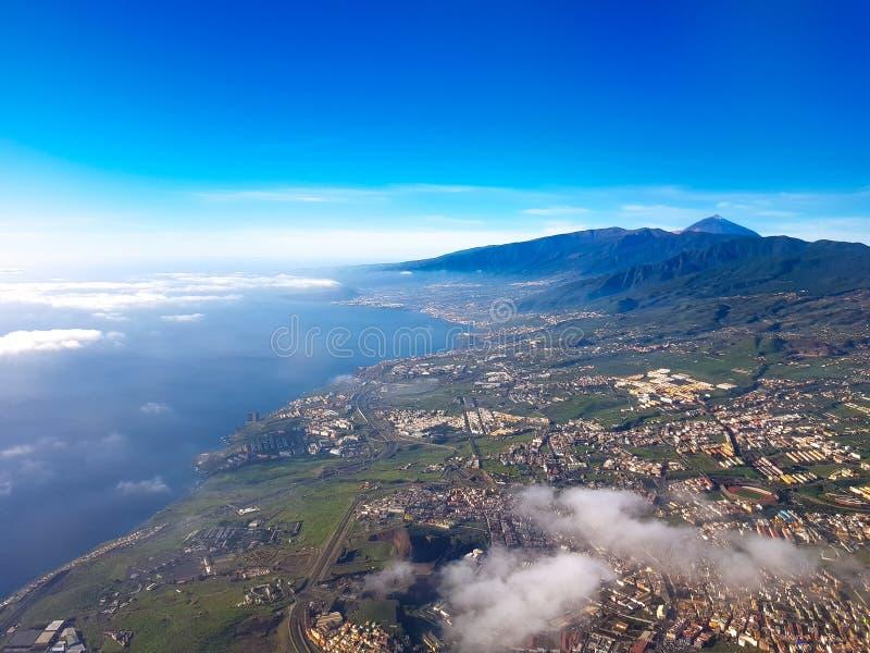Vista aérea da ilha de Tenerife, Ilhas Canárias, Espanha foto de stock