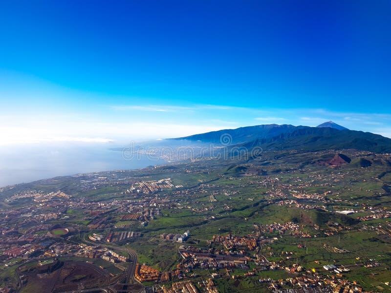 Vista aérea da ilha de Tenerife, Ilhas Canárias, Espanha foto de stock royalty free