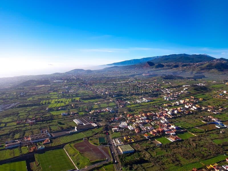 Vista aérea da ilha de Tenerife, Ilhas Canárias, Espanha fotos de stock royalty free