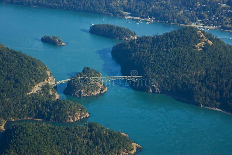 Vista aérea da ponte da passagem da decepção fotografia de stock royalty free