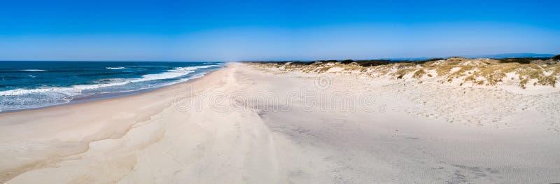 Vista aérea da praia de Torreira fotografia de stock royalty free