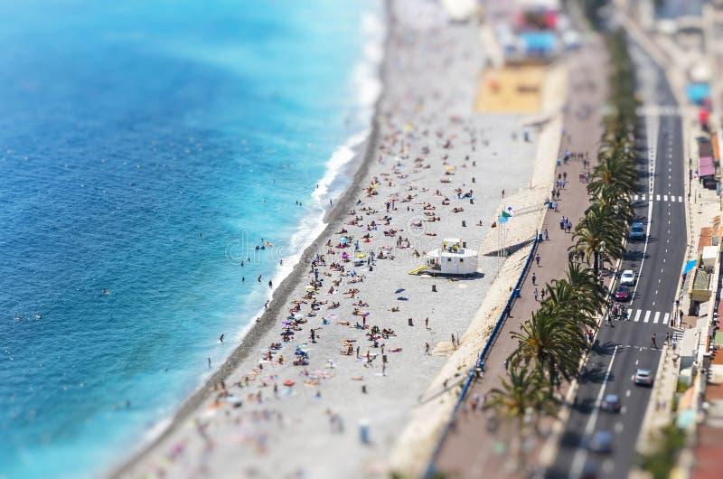 Download Vista Aérea Da Praia Na Cidade De Agradável, Cote D'Azure, França Imagem de Stock - Imagem de paisagem, cidade: 80100673
