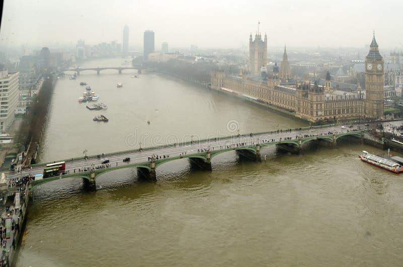 Vista aérea das casas do parlamento imagens de stock royalty free