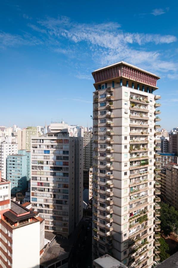 Vista aérea das construções na cidade de Sao Paulo imagens de stock royalty free