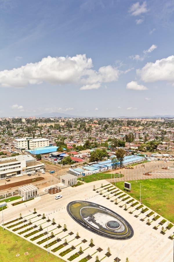 Vista aérea de Addis Ababa imagens de stock