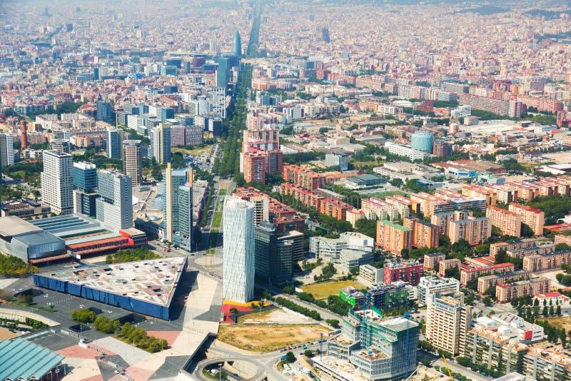Download Vista aérea de Barcelona foto de archivo. Imagen de configuración - 44851966
