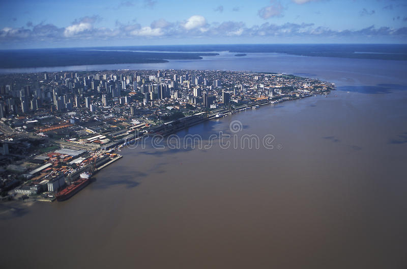 Vista aérea de Belém, Brasil imagem de stock royalty free