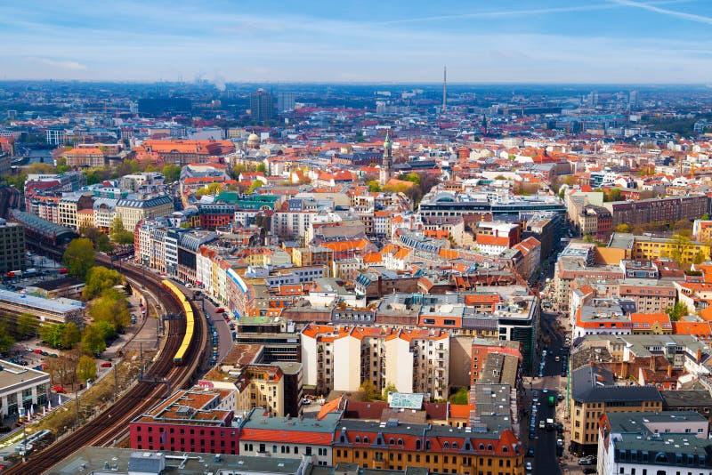 Vista aérea de Berlín fotografía de archivo libre de regalías