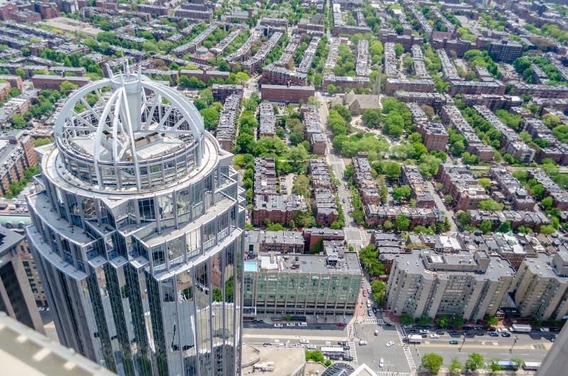 Vista aérea de Boston central imágenes de archivo libres de regalías