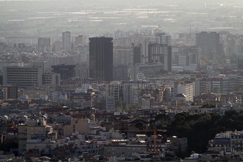 Vista aérea de casas de Barcelona fotografia de stock royalty free