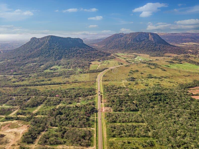 Vista aérea de Cerro Paraguari imagen de archivo