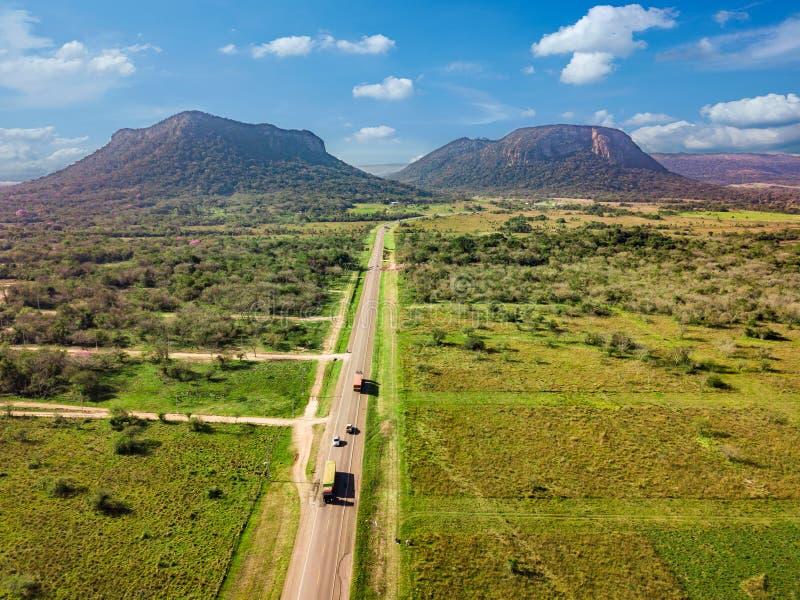 Vista aérea de Cerro Paraguari fotos de archivo