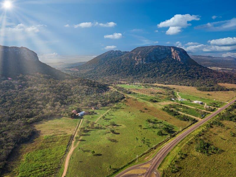 Vista aérea de Cerro Paraguari imagenes de archivo