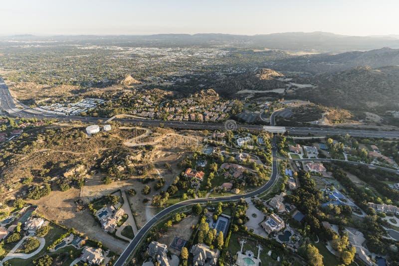 Vista aérea de Chatsworth em Los Angeles Califórnia fotografia de stock
