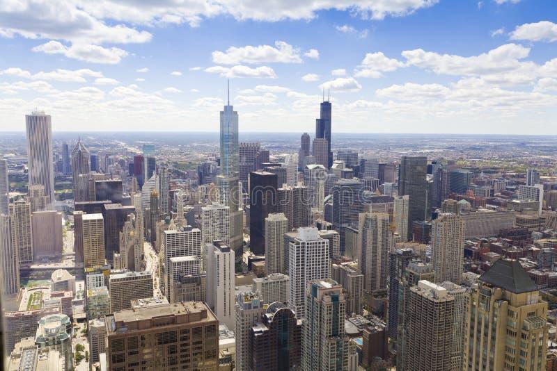 Vista aérea de Chicago imagem de stock royalty free