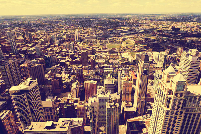 Vista aérea de Chicago fotografía de archivo libre de regalías