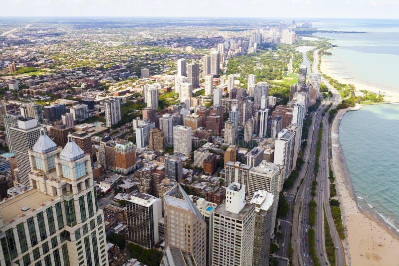Vista aérea de Chicago da baixa fotografia de stock royalty free