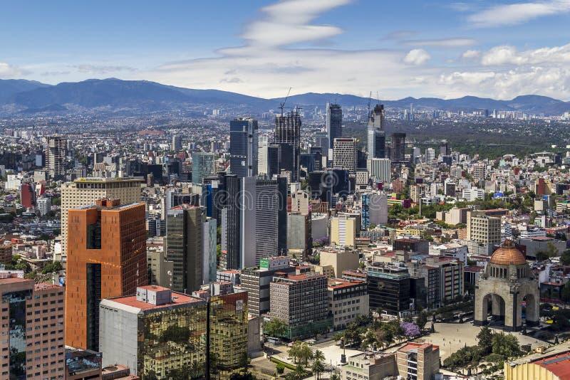 Vista aérea de Cidade do México foto de stock