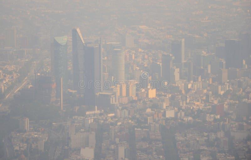 Vista aérea de Ciudad de México fotografía de archivo libre de regalías