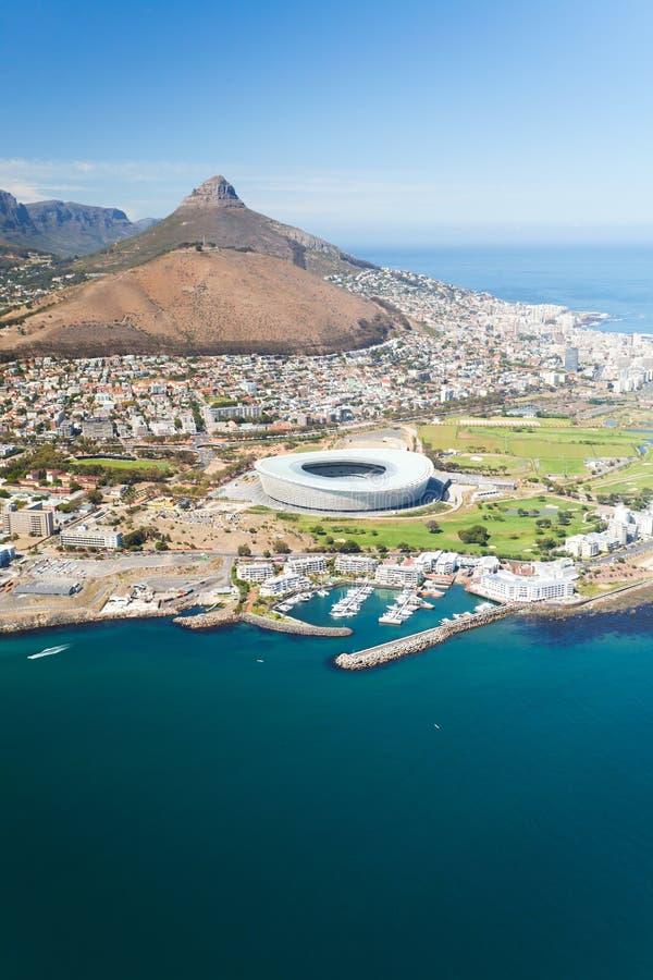 Vista aérea de Ciudad del Cabo foto de archivo