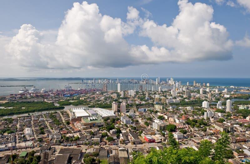 Vista aérea de Colômbia foto de stock