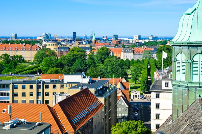 Vista aérea de Copenhague, Dinamarca fotografía de archivo
