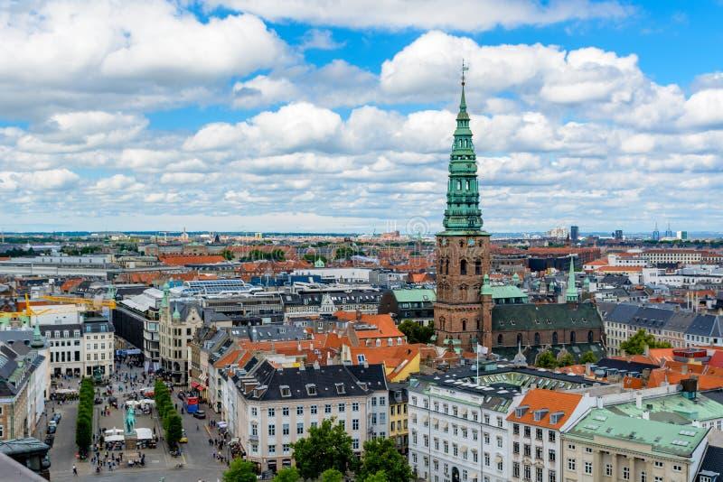 Vista aérea de Copenhague, Dinamarca imagen de archivo libre de regalías