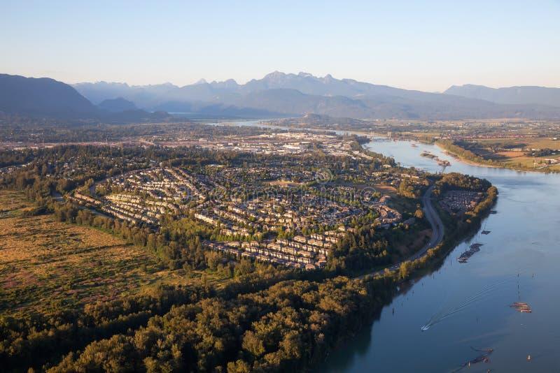 Vista aérea de Coquitlam fotografia de stock