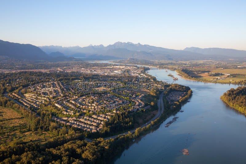 Vista aérea de Coquitlam fotos de stock royalty free