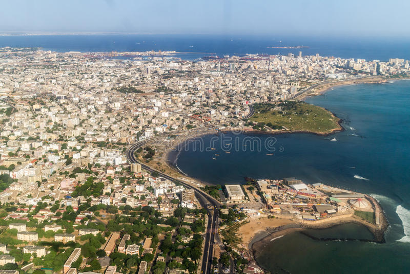 Vista aérea de Dakar fotos de archivo