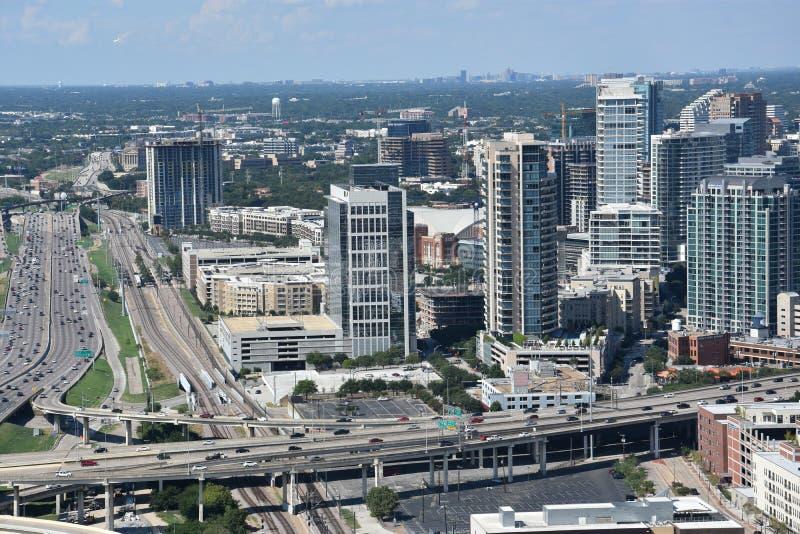 Vista aérea de Dallas, Texas foto de stock