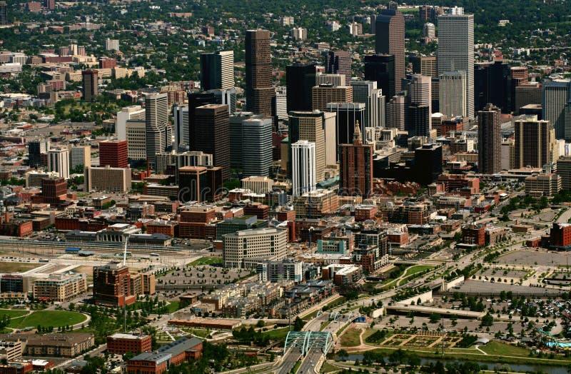 Vista aérea de Denver imagen de archivo libre de regalías