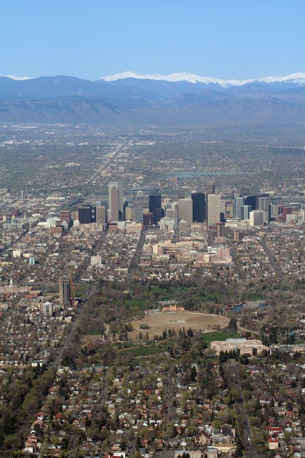 Vista aérea de Denver, Colorado imagenes de archivo