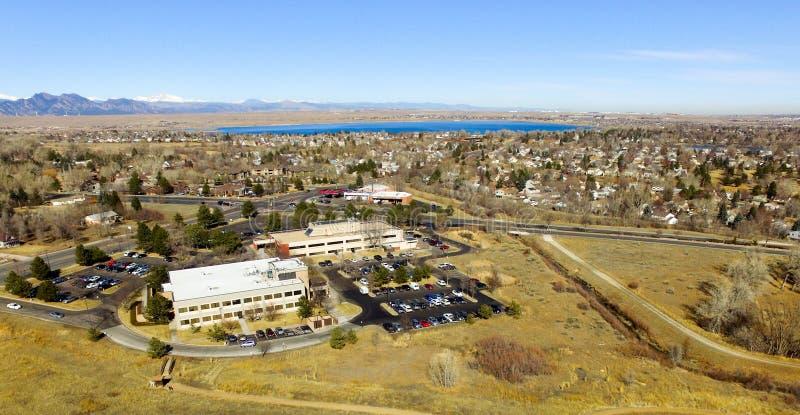 Vista aérea de Denver en Colorado fotografía de archivo libre de regalías