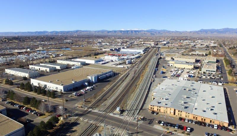 Vista aérea de Denver en Colorado imágenes de archivo libres de regalías