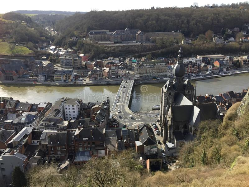 Vista aérea de Dinant (Bélgica) foto de stock royalty free