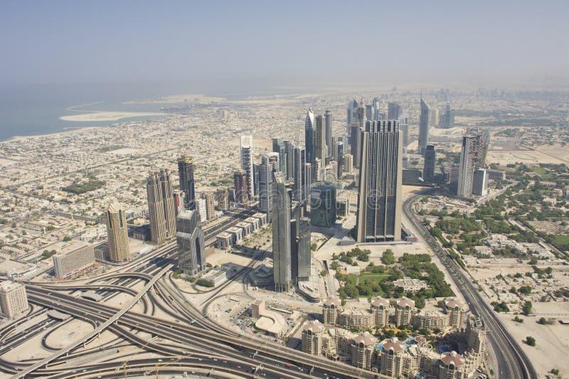 Vista aérea de Dubai fotos de stock royalty free