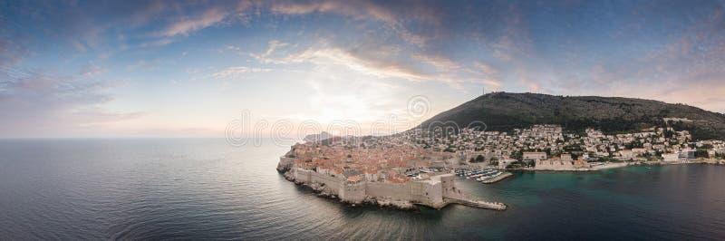 Vista aérea de Dubrovnik, Croacia fotografía de archivo