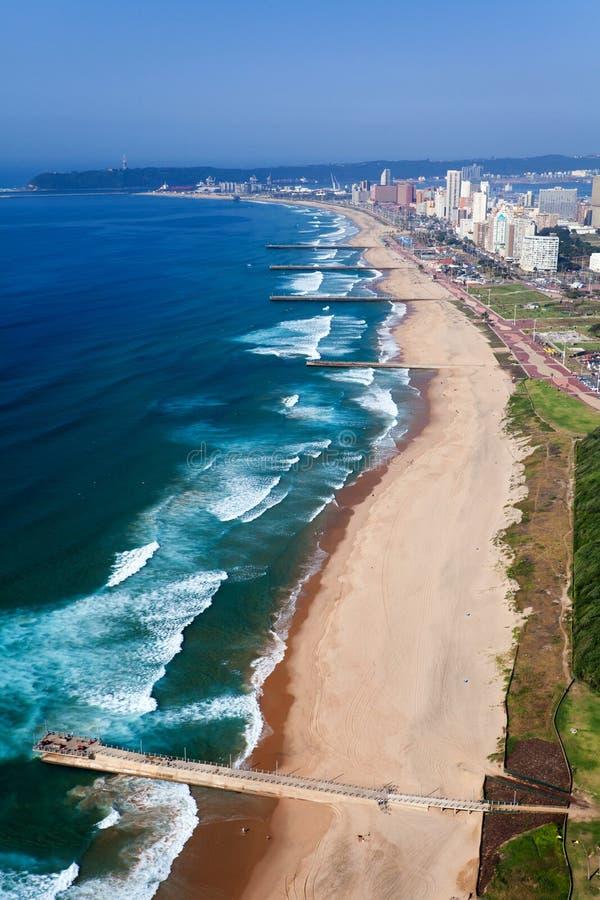 Vista aérea de Durban foto de archivo