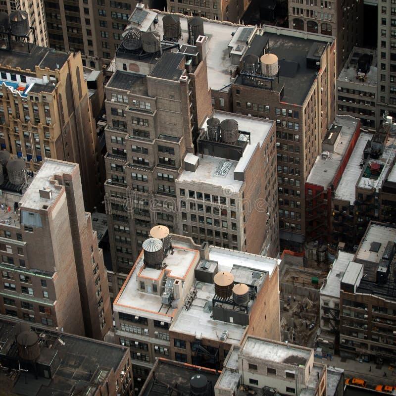 Vista aérea de edifícios de NYC imagens de stock royalty free