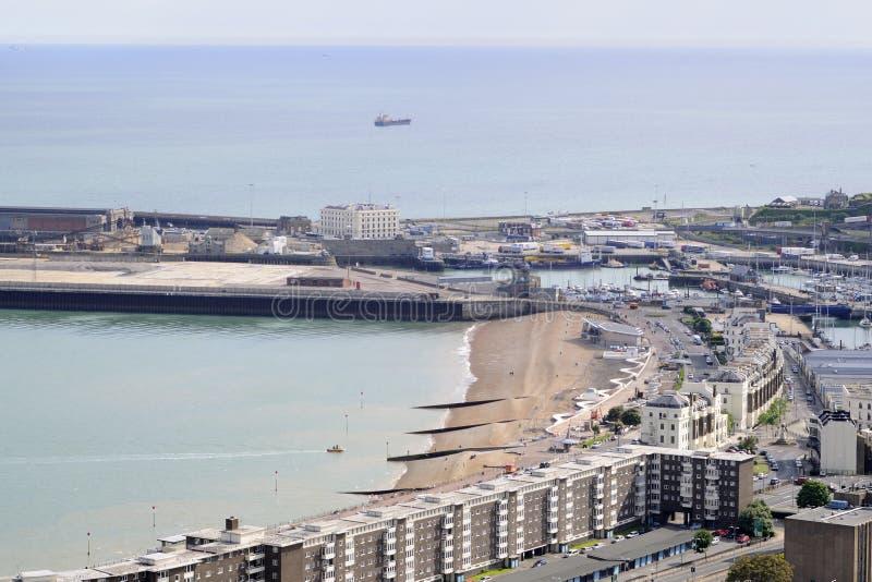 Vista aérea de edificios de Dover fotografía de archivo libre de regalías