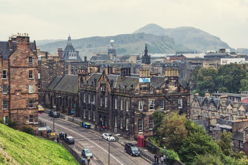 Vista aérea de Edimburgo imagenes de archivo