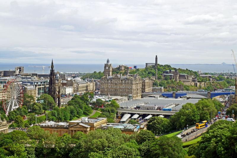 Vista aérea de Edinburh, ESCOCIA imagen de archivo libre de regalías