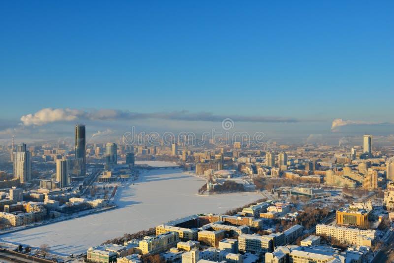 Vista aérea de Ekaterimburgo, Rusia foto de archivo