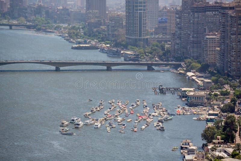 Vista aérea de El Cairo imagen de archivo libre de regalías