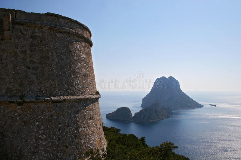 Vista Aérea De Es Vedra, Ibiza Foto de archivo libre de regalías