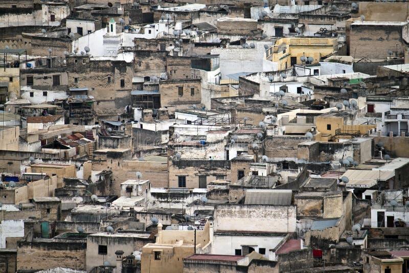 Vista aérea de Fes foto de archivo libre de regalías