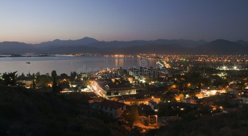 Vista aérea de Fethiye fotografia de stock royalty free