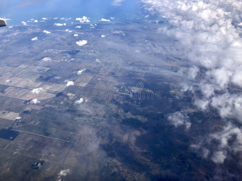 Vista aérea de florida imagens de stock
