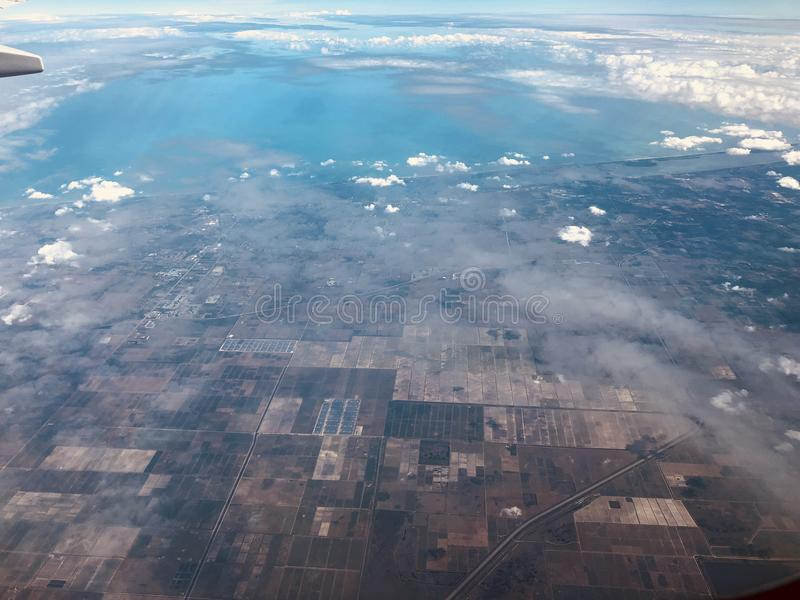 Vista aérea de florida fotos de stock royalty free